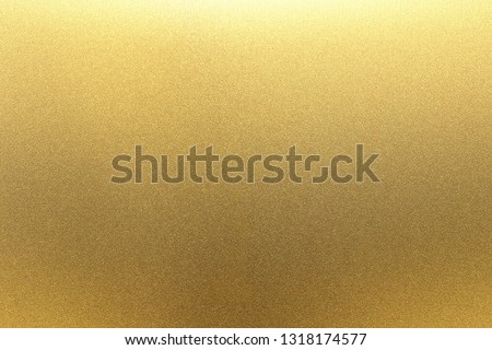 Refraction on gold metal wall texture, abstract background