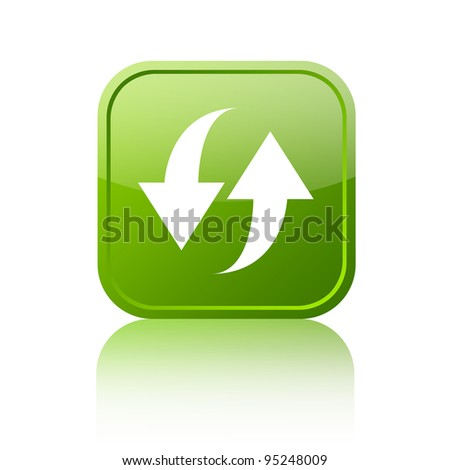 Refresh button - stock photo