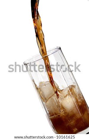 refreshener drink in a glass with ice blocks