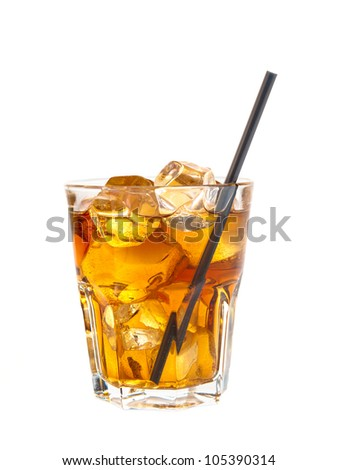 Refreshing cocktail of coke and alcohol