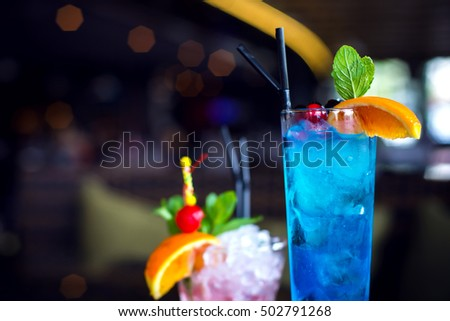 refreshing cocktail with orange ...