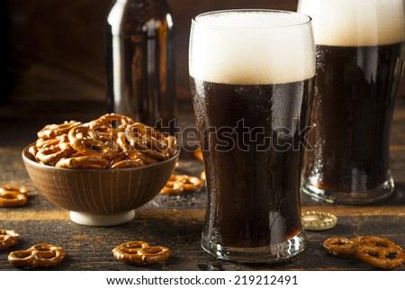 Refreshing Dark Stout Beer Ready to Drink Stock photo ©