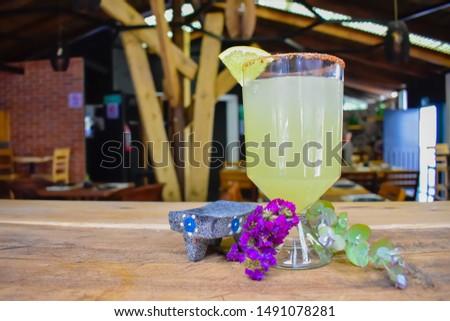 Refreshing drink, Orange drink, drink on wooden board