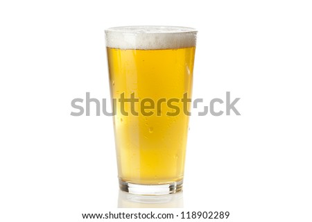 Refreshing Ice Cold Beer against a background - stock photo