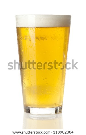 Refreshing Ice Cold Beer against a background Stock photo ©