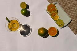 Refreshing Orange and Lemmon Drink