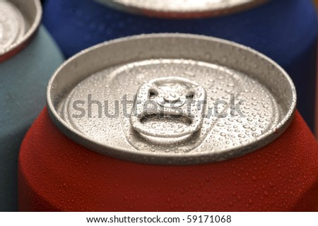 Refreshing red can of soda