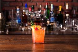 Refreshing Rum Mai Tai Cocktail on a Bar