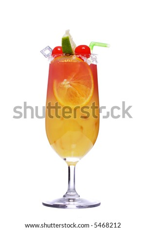 refreshing sex on the beach cocktail, made with fresh fruit . contains vodka and peach schnapps