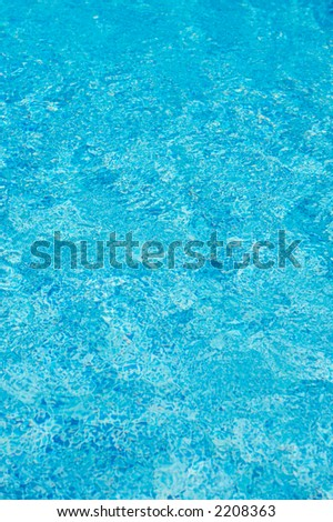 Refreshing water of swimming pool in summer