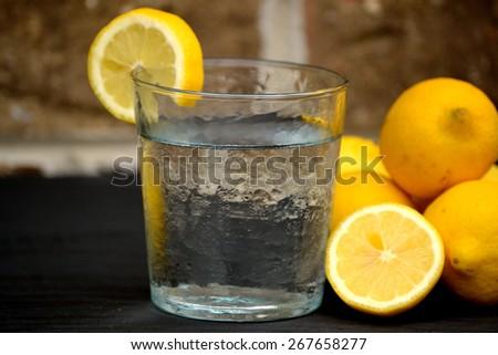 Refreshing Water with Lemons
