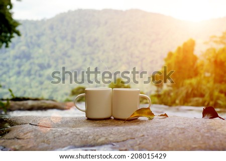 Refreshments and coffee on the rocks at the falls.