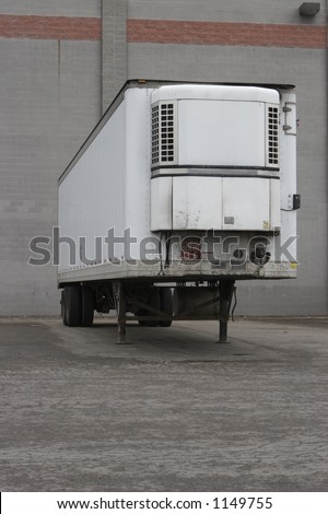 Refrigerated Trailer at Shipping Facility - Front View