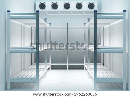 Refrigeration chamber for food storage Stock photo ©