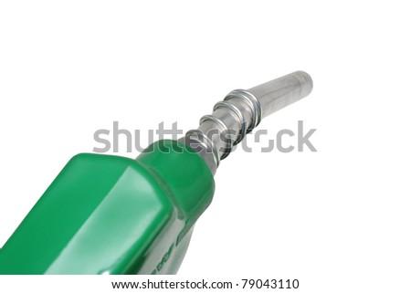 Refueling hose on white background - stock photo