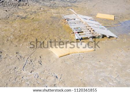 Broken wood raft Images and Stock Photos - Avopix com