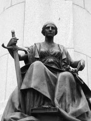 Regal Bronze Female Statue