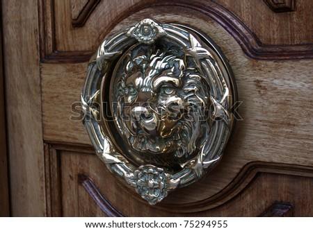 Regal Lion Door Knocker