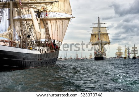 Regatta sailing ships. Tall Ships. Yachting and Sailing. Cruises. Luxury holidays #523373746