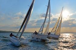 regatta sailing yacht sky sunset