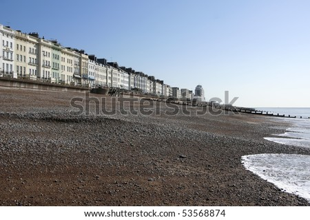 regency architecture on the seafront of st leonards beach hastings east sussex england