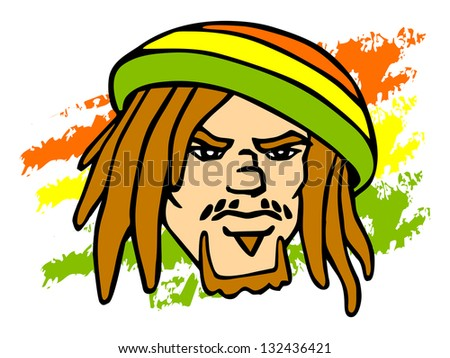 reggae character portrait of