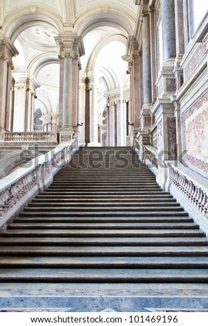 Reggia di Caserta (Caserta Royal Palaca), Italy. Luxury interior, more than 300 years old
