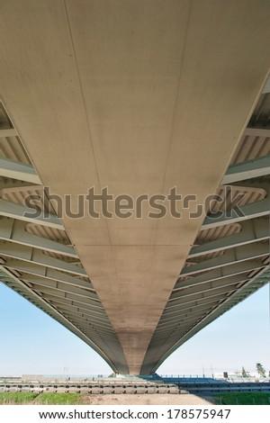 REGGIO EMILIA, ITALY - FEBRUARY 23, 2014. Famous bridges complex \