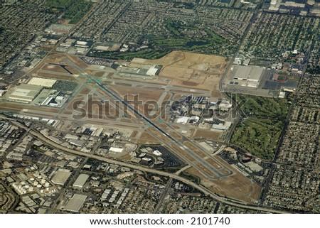 Regional Long beach airport in suburbs of Los Angeles
