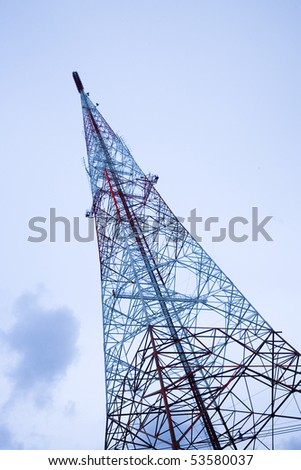 Regional radio transmitter antenna tower