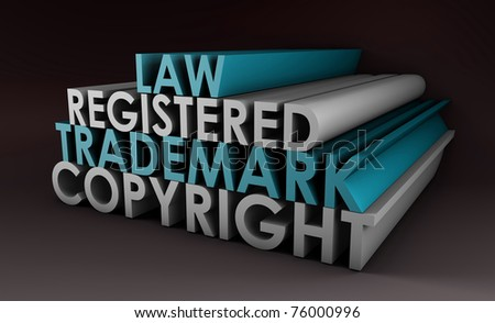 Registered and Copyright Trademark Law in 3d