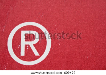 Registered trademark - stock photo