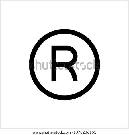 Registered Trademark Icon Raster Art Illustration