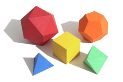 Regular polyhedra, also known as Platonic Solids