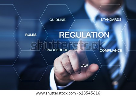 Regulation Compliance Rules Law Standard Business Technology concept