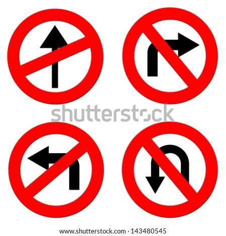 Regulatory road sign  4 set.