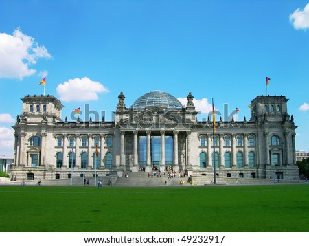 Reichstag building in Berlin, Germany