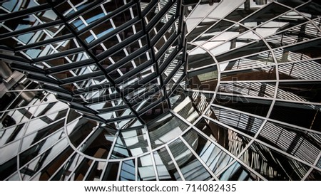Reichstag dome, Berlin, Germany, 2015 - Shutterstock ID 714082435