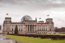 Reichstag historical goverment building, Berlin, Germany