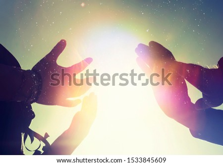 Reiki energy light worker hands photo illustration.