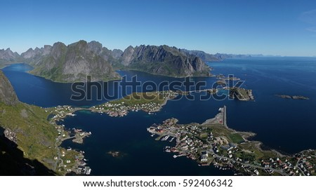 Reinebringen - Lofoten Islands in Norway #592406342