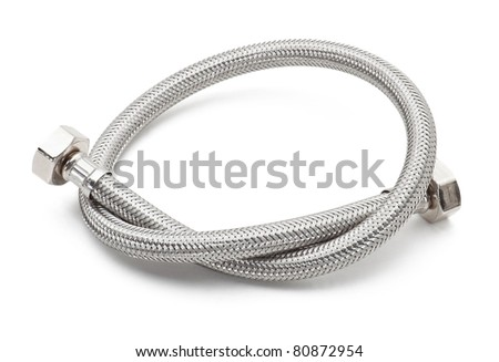 Reinforced hose isolated on white background