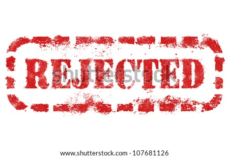 Rejected stamp over white background. High detail in high resolution.