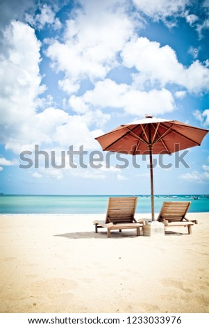 Relax in Jimbaran Beach, Bali, Indonesia #1233033976