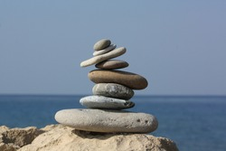 Relax rest balance, water stone nature, Turkey
