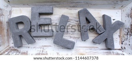 RELAX SHATTERED LETTERS #1144607378