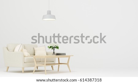 Relax space white background -3D Rendering #614387318