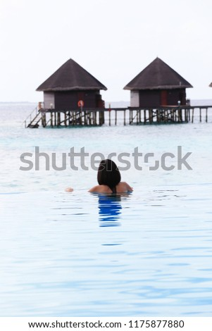 Stock Photo Relax time at maldives island