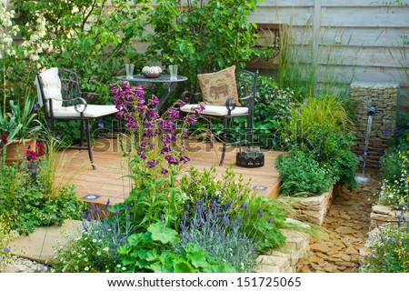 Relaxation Area In A Garden