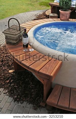 relaxation in luxury bubble bath